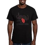 I Mustache You a Question Men's Fitted T-Shirt (da