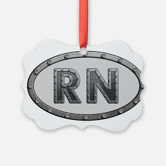 RN Metal Ornament