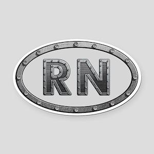 RN Metal Oval Car Magnet