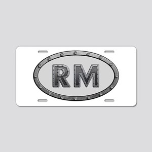 RM Metal Aluminum License Plate