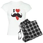 I Love Mustache Women's Light Pajamas