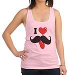 I Love Mustache Racerback Tank Top