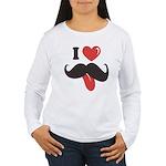 I Love Mustache Women's Long Sleeve T-Shirt
