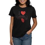 I Love Mustache Women's Dark T-Shirt