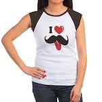 I Love Mustache Women's Cap Sleeve T-Shirt