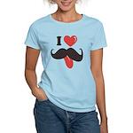 I Love Mustache Women's Light T-Shirt