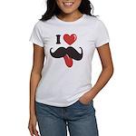I Love Mustache Women's T-Shirt