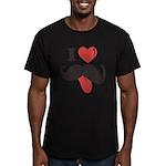 I Love Mustache Men's Fitted T-Shirt (dark)
