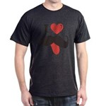 I Love Mustache Dark T-Shirt