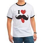 I Love Mustache Ringer T