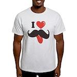 I Love Mustache Light T-Shirt