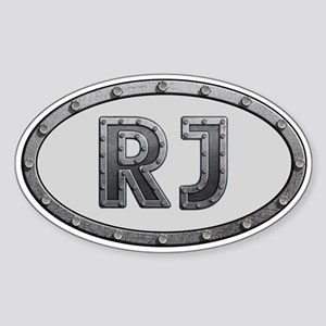 RJ Metal Sticker (Oval)