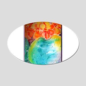 Cactus! Colorful southwest art! 20x12 Oval Wall De