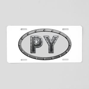 PY Metal Aluminum License Plate