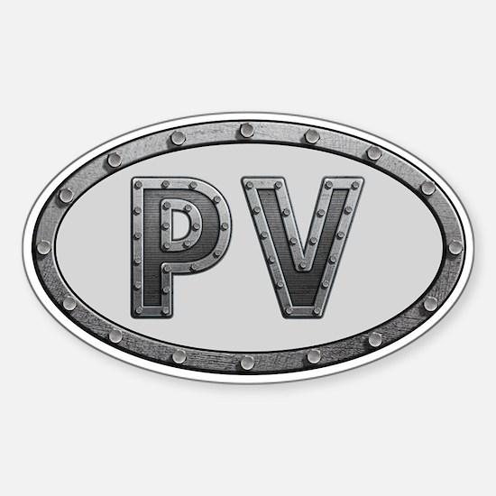 PV Metal Sticker (Oval)