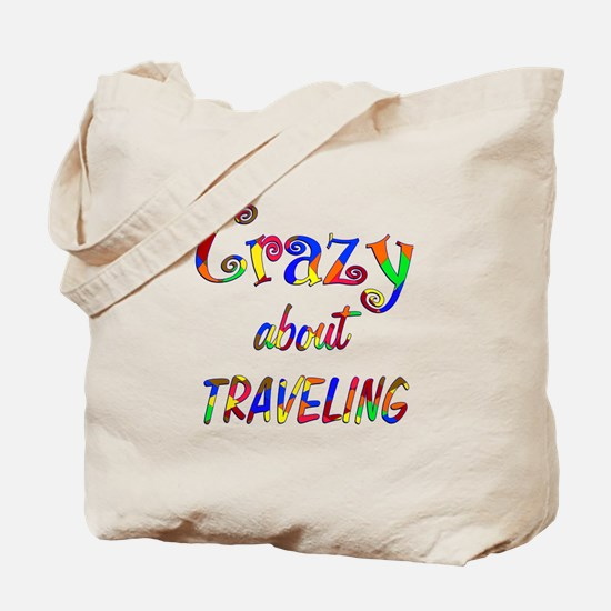 Crazy About Traveling Tote Bag