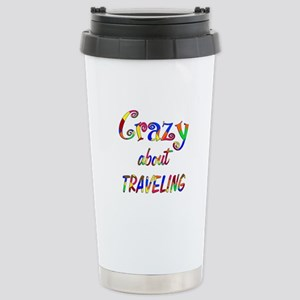 Crazy About Traveling Stainless Steel Travel Mug
