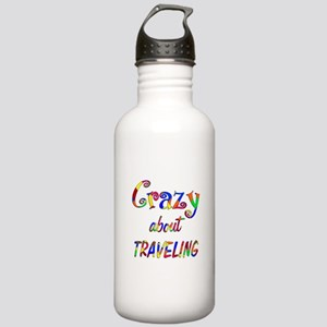 Crazy About Traveling Stainless Water Bottle 1.0L