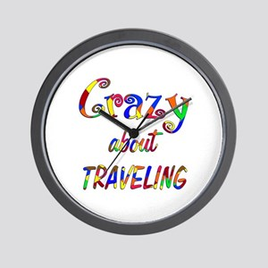 Crazy About Traveling Wall Clock