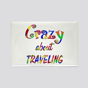 Crazy About Traveling Rectangle Magnet