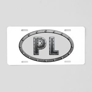 PL Metal Aluminum License Plate