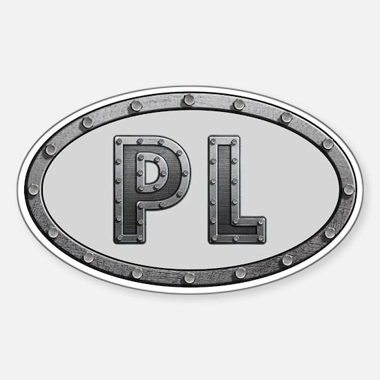 PL Metal Sticker (Oval)