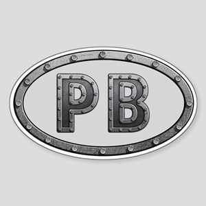 PB Metal Sticker (Oval)