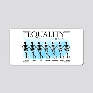 Equality Aluminum License Plate