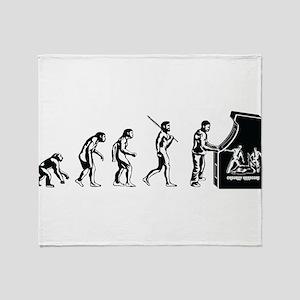 Video Game Evolution Throw Blanket