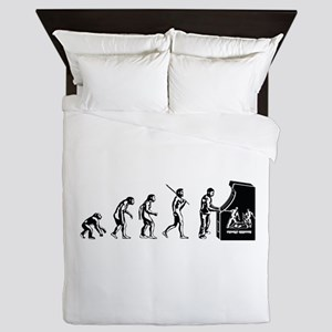 Video Game Evolution Queen Duvet