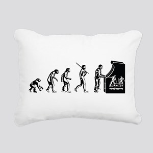 Video Game Evolution Rectangular Canvas Pillow