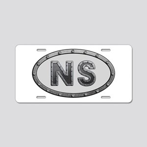 NS Metal Aluminum License Plate