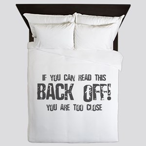 If you can read this back off! Queen Duvet