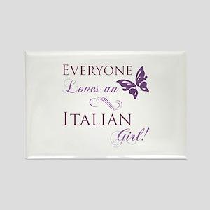 Italian Girl Rectangle Magnet