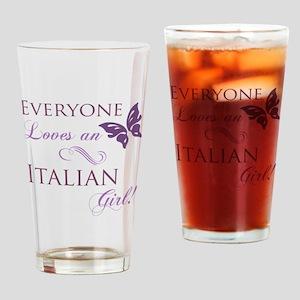 Italian Girl Drinking Glass