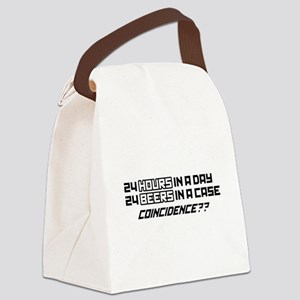 24 Hours in A Day Coincidence? Canvas Lunch Bag