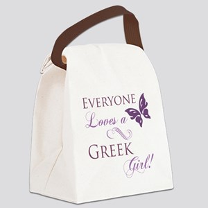 Greek Girl Canvas Lunch Bag