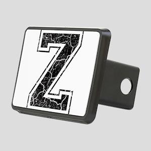 Letter Z in black vintage look Rectangular Hitch C