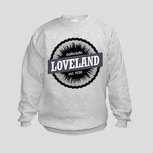 Loveland Ski Resort Colorado Black Kids Sweatshirt