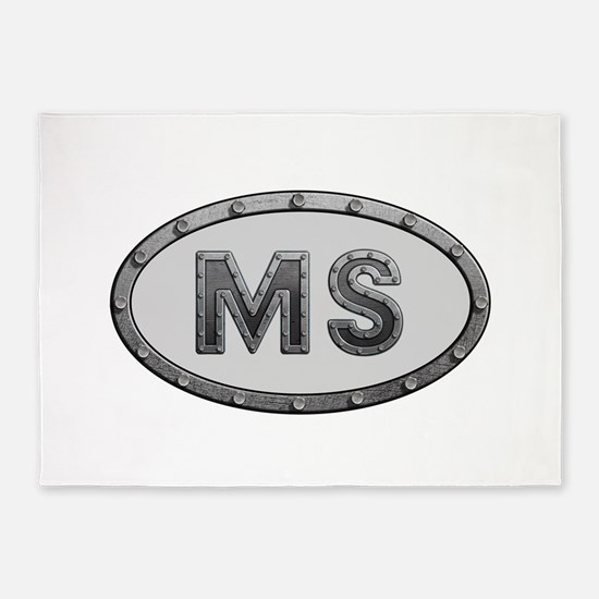 MS Metal 5'x7'Area Rug