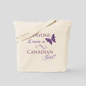 Canadian Girl Tote Bag
