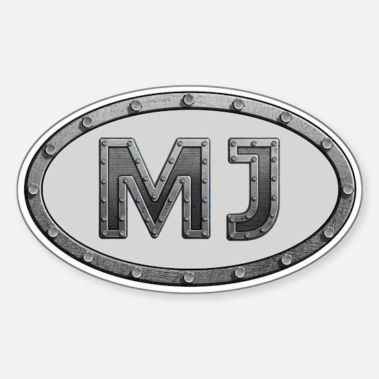 MJ Metal Sticker (Oval)