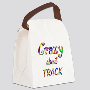 Crazy About Track Canvas Lunch Bag
