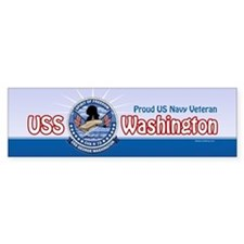 Navy Veteran CVN-73 Sticker (Bumper)