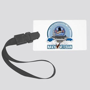 Navy Veteran CVN-73 Large Luggage Tag