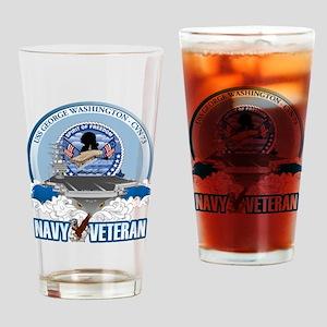 Navy Veteran CVN-73 Drinking Glass