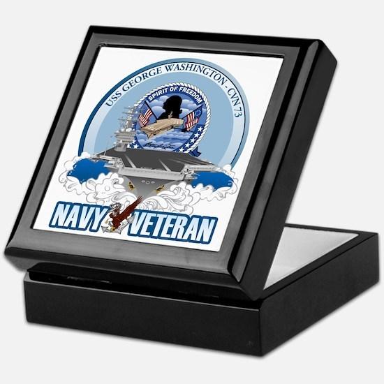 Navy Veteran CVN-73 Keepsake Box