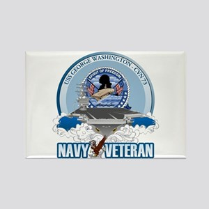 Navy Veteran CVN-73 Rectangle Magnet