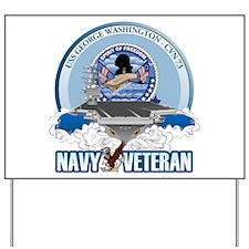 Navy Veteran CVN-73 Yard Sign