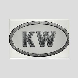 KW Metal Rectangle Magnet